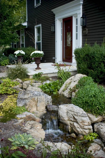 Front yard water feature-steam