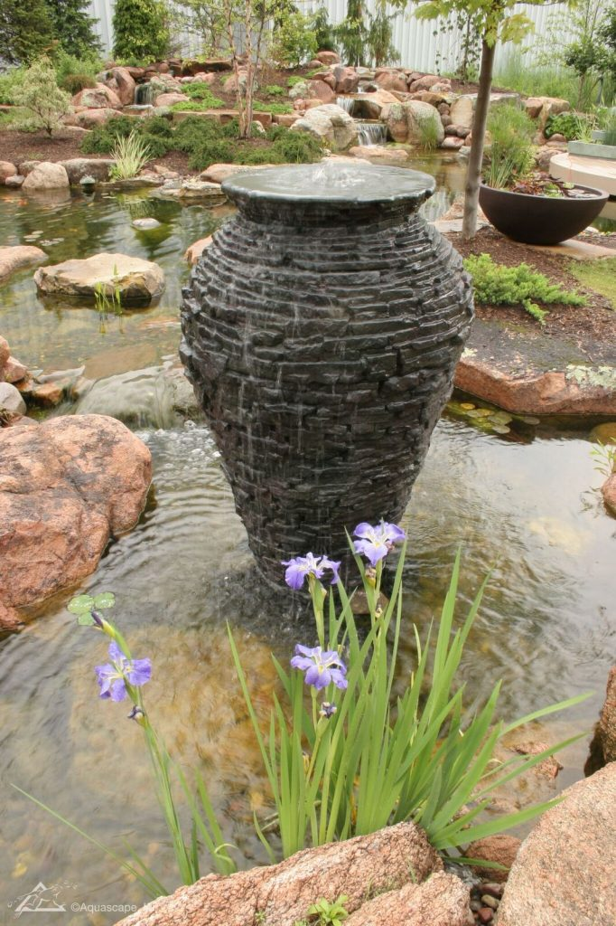 Bucks County Fountain Installation Single Urn