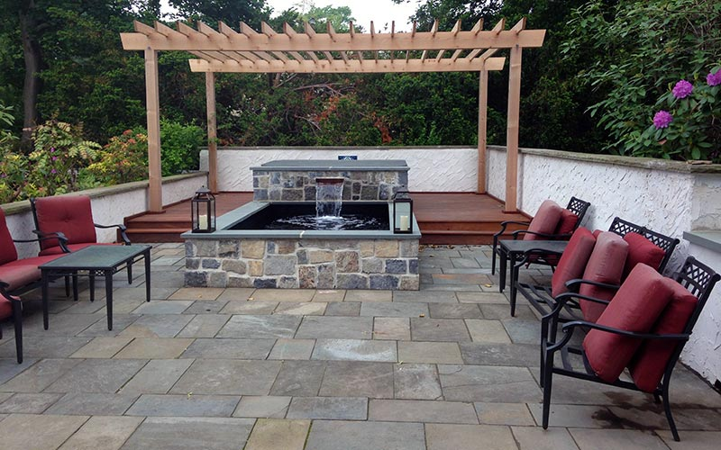 Flagstone patio project, After