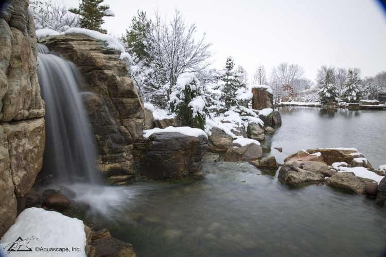 Aqualand in winter