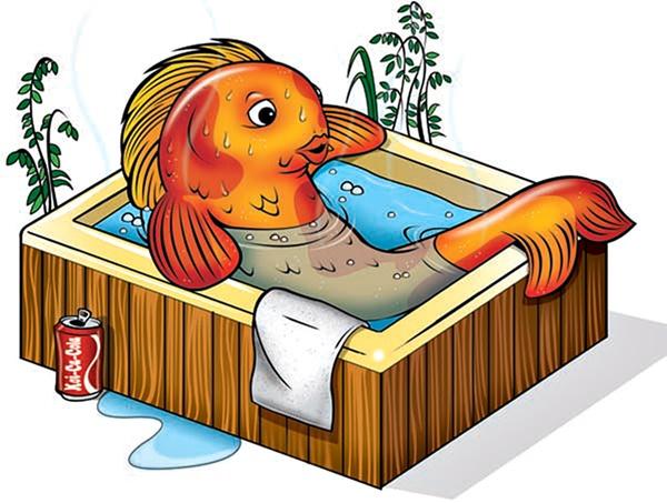 Hot pond makes for sick koi