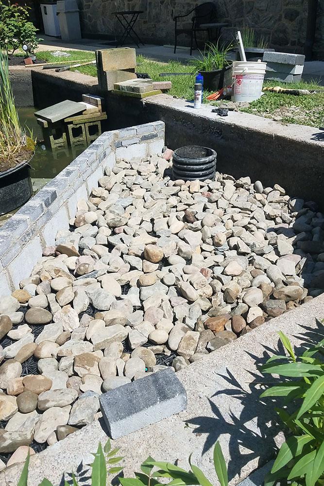 Philadelphia's St. Vincent wetland filter installation