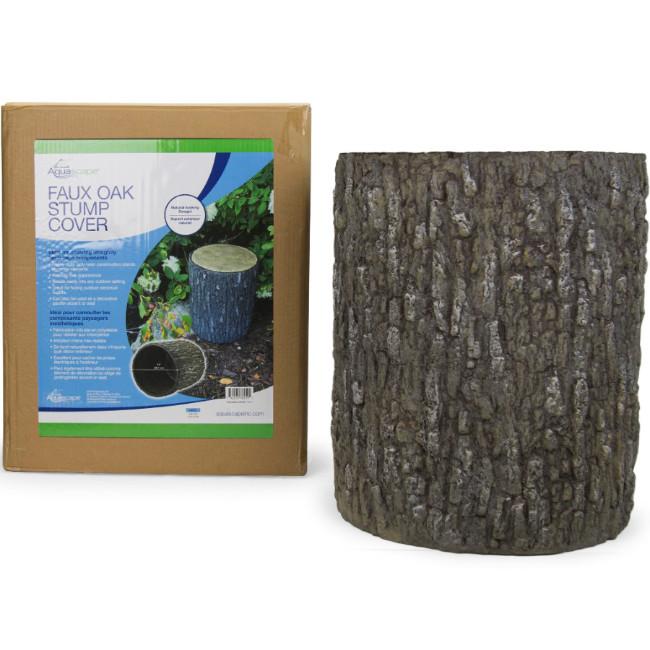 Decorative wood stump for pond